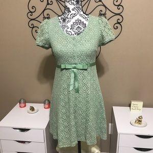 Umgee Green Lace Sheath Dress S
